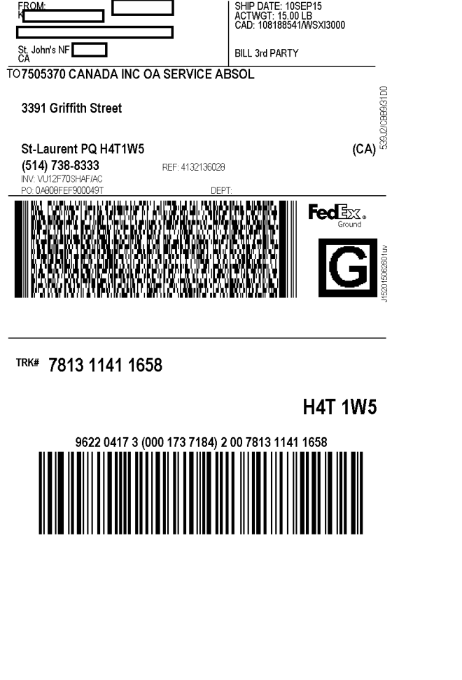 Samsung1canada for Fedex label template word